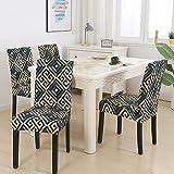 1/2/4/6 Uds Fundas geométricas para sillas Spandex elástico...