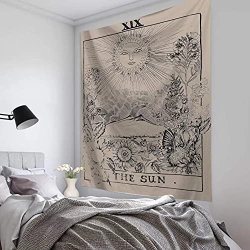N/A Alfombra de Picnic al Aire Libre Tapiz Tarot Tapiz Colgante de Pared Dormitorio decoración de la Pared Tela ColganteCubierta de Cama