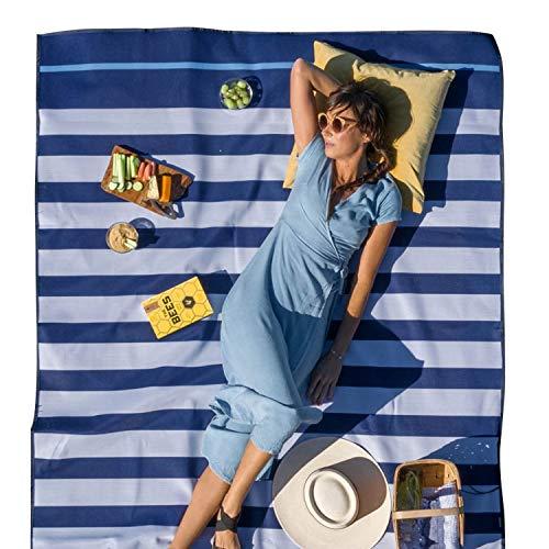 Cgear Sandlite Sandlite SandLite Stranddecke, Sandfrei, für Damen S Marineblau gestreift