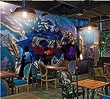 Fototapeten Bar Ktv Moderne Graffiti Hintergrund Für Wohnzimmer Sofa Schlafzimmer TV Hintergrund (B) 160X (H) 120Cm Seidentuch @ (B) 300X (H) 210CmWand TV Hintergrund