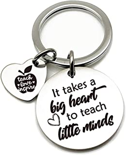 Teacher Appreciation Gift Keychain - Stainless Steel Key Chain for Teacher Parents Men Women- Thank You Teacher Gifts for ...