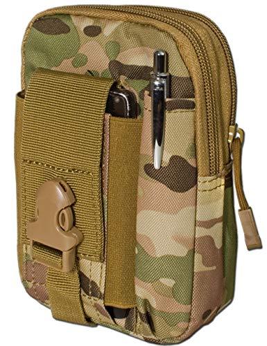 Saxx® - Sac de Ceinture Tactique - Sac Banane - Protection de Transport pour équipement de téléphone Portable GPS Tracker MP3 - Couteau Camouflage