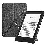 FINTIE Origami Funda para Kindle (10.ª generación, 2019) - Carcasa de Tela Función de Soporte y Auto-Reposo/Activación (NO se Adapta a Kindle Paperwhite), Tela Gris Marengo
