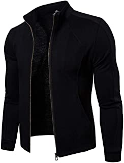 Mens Outwear Big Promotion,Realdo Lightweight Breathable Solid Casual Soft Stand Collar Zipper Jacket Top