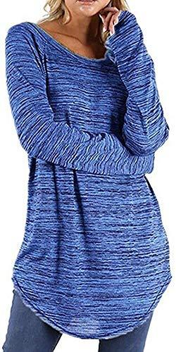 Hulday Camisas para Mujer Camisa A Rayas O Blancas Más Tamaño Cuello Vida de la Moda Tops Fall Locker Simple Camiseta Ocasional De La Camisa De La Manera Superior del Puente