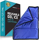 Rester's Choice Ice Pack for Injuries Reusable - (Standard Large: 11x14.5') for Hip, Shoulder, Knee, Back - Hot & Cold Compress for Swelling, Bruises, Surgery - Heat & Cold Therapy