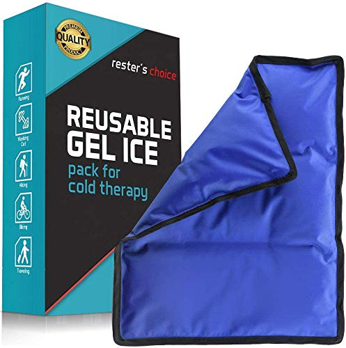 "Gel Cold & Hot Pack - 11x14.5"" Reusable Warm or Ice Pack for Injuries, Hip, Shoulder, Knee, Back Pain - Hot & Cold Compress for Swelling, Bruises, Surgery - Heat & Cold Therapy"