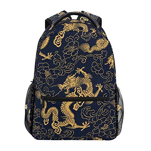 NA Casual Schulrucksack Drache Floral Paisley leicht Reise Daypack College Schultertasche für Frauen Mädchen Teenager