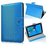 UC-Express Tablet Tasche für Medion Lifetab S10345 S10346 Hülle Schutzhülle Carbon Hülle Bag, Farben:Blau