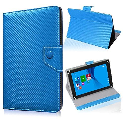 UC-Express Tablet Tasche für Medion Lifetab S10345 S10346 Hülle Schutzhülle Carbon Case Bag, Farben:Blau