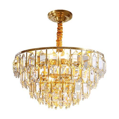 Luce Plafoniera Luz de lujo Led redondo Oro Lámpara de sala Lámpara de dormitorio Φ50cm Araña minimalista posmoderna