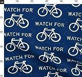 Fahrrad, Schrift, Abstrakt, Geometrisch Stoffe -