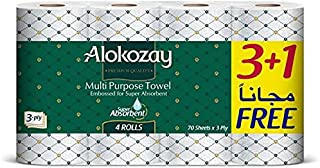 MULTI-PURPOSE TOWEL - 3+1 ROLLS X 3 PLY - 70 SHEETS - PACK OF 6