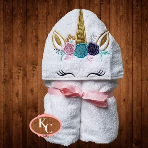 Amazon.com: Personalized Hooded Towel, Kids Unicorn Hooded Bath