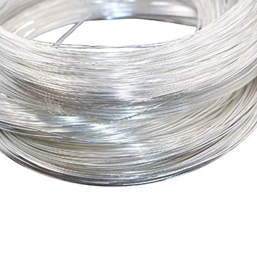 GOZAR 1M/40Inch 990 925 Sterling Silver Wire DIY Design Handmade Gioielli Strumenti Accessori Bracciale-925 Silver 0.3 Mm