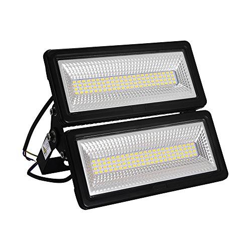 50W 100W Focos LED Exterior Puede fusionarse LED Foco Proyector, Peso ligero, Ultra Delgado, Bajo Consumo de Energía y Alto Brillo (100W, Blanco cálido)