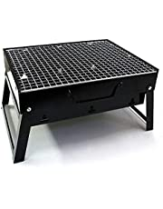 Portable & Foldable Charcoal Barbeque Grill - Black