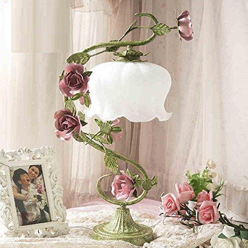 XYQ - Rose Hochzeit Tischlampe Schlafzimmer Nachttischlampe kreative Hochzeitsgeschenke alten Vintage schmiedeeisernen Gartendekoration Lampe tun