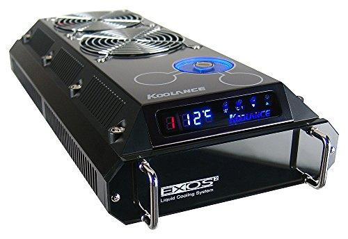 Koolance EX2-755 - Computer-Kühlmittel (0,157 l, 2 Lüfter, Aluminium, Schwarz, 3,63 kg, 12 cm)