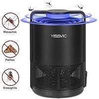 YISSVIC Asesino de Mosquitos Inteligente, UV Lámpara Antimosquitos con Ventilador Integrado, Portátil Carga por USB sin Ruido y Radiación