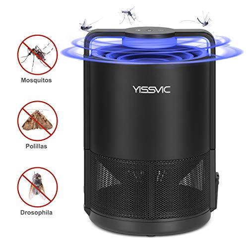YISSVIC Lámpara Antimosquitos, Asesino de Mosquitos Inteligente con Ventilador Integrado, Antimosquitos Trampas UV Portátil Carga por USB sin Ruido y Radiación