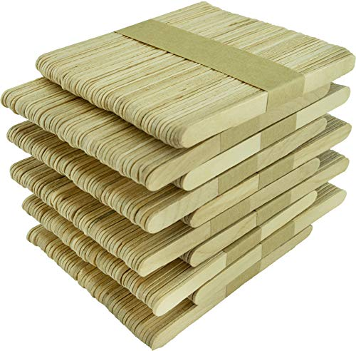 Bastelhölzer A00511015 Basteln aus unbehandeltem Birkenholz, 114x10x2mm, 500 Stück, natur, 114 mm