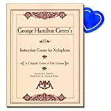 Instruction Course for Xylophone von George Hamilton Green - complete course of 50 lessons including ragtime, improvising, blues and exercises for individual hand development mit herzförmiger Notenklammer -