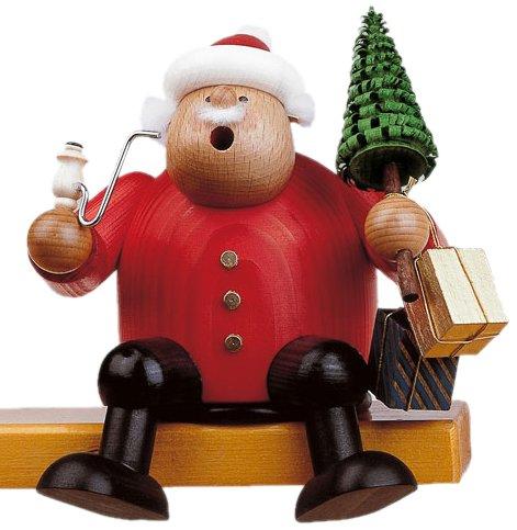KWO Sitting Santa German Christmas Incense Smoker Handcrafted Erzgebirge Germany