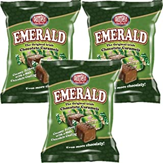 Oatfield Emerald, Original Irish Caramels, 3 bag pack, 150g (5.3oz) per bag