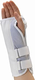 OTC Kidsline Wrist Splint Soft Foam Adjustable Support, White (Right Hand), Pediatric