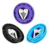 MAIRUI Earbud Case Holder Pack [3 Pack], Earphone Case Wrap Earbuds Nest Tangle-Free Silicone Magnetic Organzier