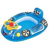 水遊び 子供用レーシングカー ブルー 71×56cm 41416 浮き輪 浮き袋
