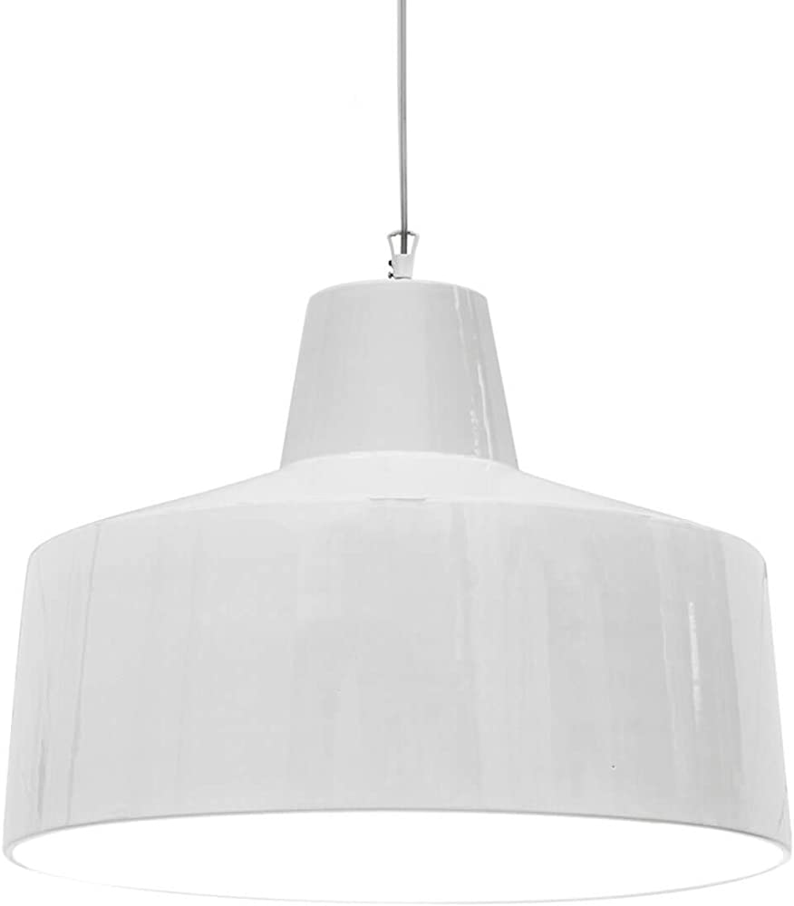 Karman gangster, lampada a sospensione Ø48 cm, in ceramica ,con interno bianco lucido SE642BB