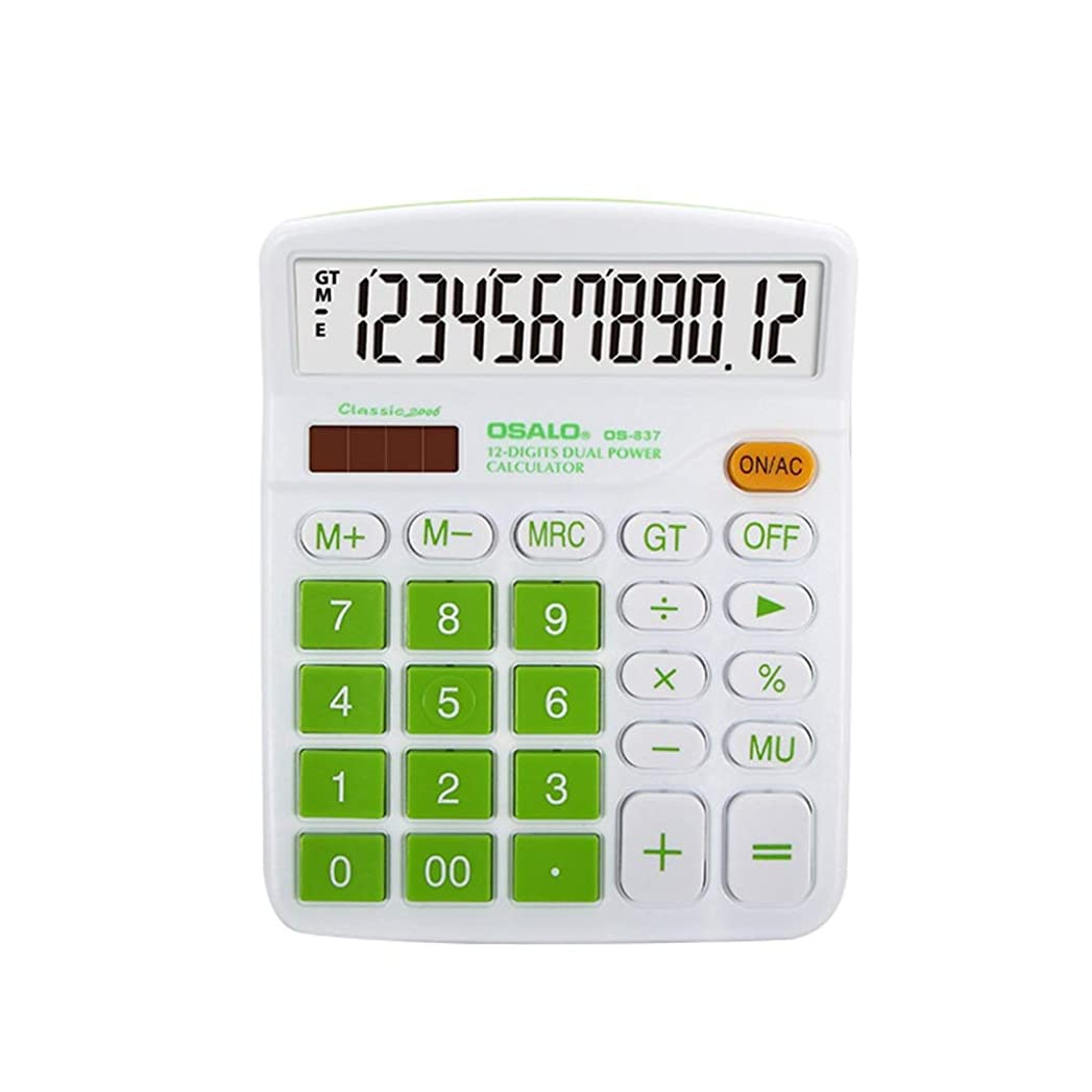 好む感心するオーチャードオフィスデスクトップ電卓-ポータブル12ビット大型液晶ディスプレイビジネス財務会計世帯 (色 : B)