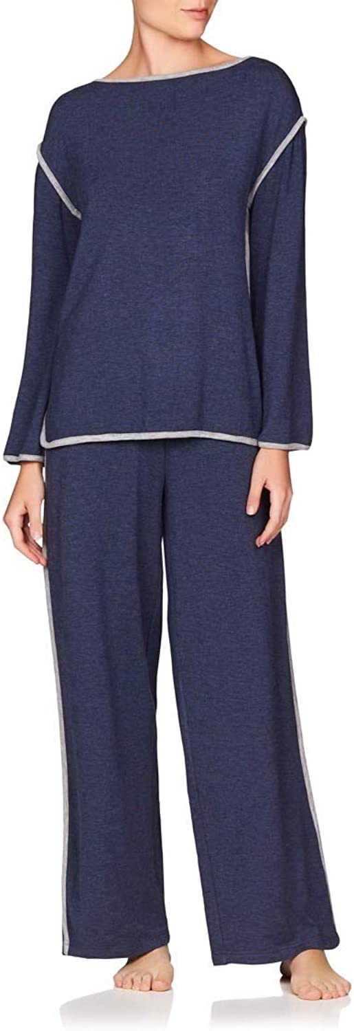 Naked Women's Butterknit Pajama Set  Ladies Long Sleeve Sleep Shirt & Loungewear PJ Pants