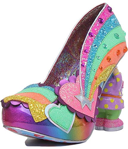 Irregular Choice Damen Pumps I Just Gnome It mit Zwergenabsatz, - Multi (Multi A) - Größe: 38 EU