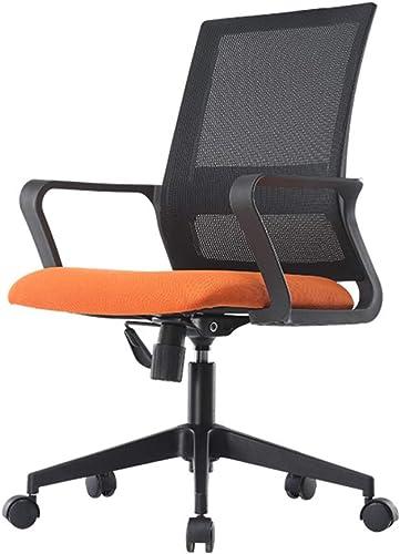 DQMSB Chaise de bureau chaise pivotante ascenseur haut dossier chaise ordinateur chaise (Couleur   Orange)