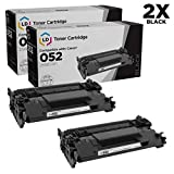 LD Compatible Toner Cartridge Replacement for Canon 052 2199C001 (Black, 2-Pack)