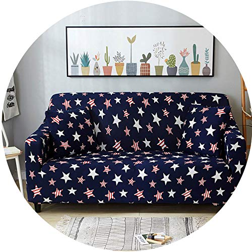 mamamoo All-Inclusive Flexible Sofa Cover for Living Room Elastic Stretch Modern Geometric Printing Couch Cover Slipcovers cubre Sofa,Color 19,2seater 145-185cm
