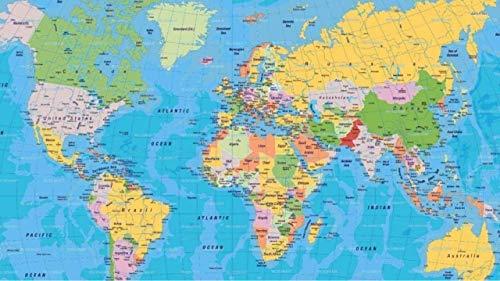 Puzzle in Legno da 1000 Pezzi per Bambini E Adulti Mappa del Mondogioco di Puzzle Regalo di Compleanno per La Famiglia