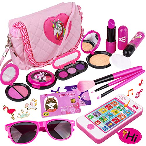 Product Image of the Kids Makeup Kit - Girl Pretend Play Makeup & My First Purse Toy for Toddler...