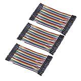 VKLSVAN 3個 40本 10CM 多色40ピン デュポン ワイヤー ジャンパー ブレッドボード 接続ワイヤー (メス-メス) ArduinoとRaspberry piに適用(合計120本)