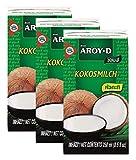 3 paquetes de leche de coco AROY-D [3x 250ml]...