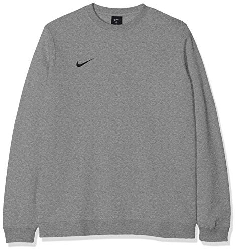 Nike Club19 Crew, Maglietta Sportiva A Maniche Lunghe Uomo, Dk Grey Heather/Black, XL