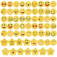 Set 60 emoticon gomma per regalino festa compleanno. Carini gomma con faccine, vi sono di vari spessori e varie lunghezze. Molto carini e pensierini ideali per le feste di compleanno come ringraziamento ai bimbi a che partecipano al party. 12 pentago...