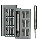 ABLY 31 in1 Precision Screwdriver Set Magnetic Mini Screwdriver Kit with 30pcs S2 Steel Bits Screwdriver for Phone Watch Camera Computer Laptop Switch Game Consoles
