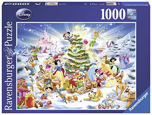 Ravensburger Puzzle, Puzzle 1000 Pezzi, Natale Disney, Puzzle per Adulti e Ragazzi, Puzzle Disney, Puzzle Ravensburger - Stampa di Alta Qualità