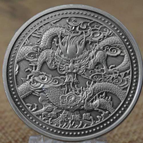 Drache tummeln Sich eine Perle Silbermünze China Maskottchen Drache 999 versilberte Münzen Sammlerstücke Art Challenge Coin