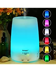 Innoo Tech Aroma Diffuser, 300ml Aromatherapy, Essential Oil Diffuser, Ultrasonic Humidifier & Cool Mist Humidifier Automatic Switch-off with 7 Color LED Light for Yoga, Bedroom, Office, etc
