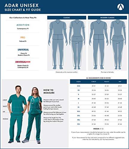 Medizinische Uniformen Unisex Top Krankenschwester Krankenhaus Berufskleidung 601 Color Nvy | Talla: M - 9